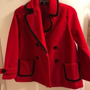 Forever 21 Red Peacoat